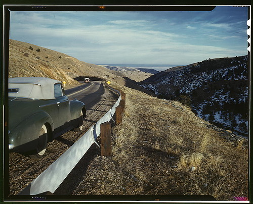 [View along US 40 in Mount Vernon Canyon, Colorado]  (LOC)