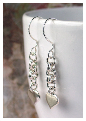Thai silver charm earrings