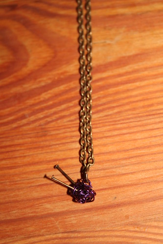 knitting ... necklace