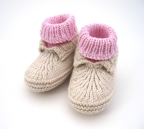 Baby Booties Free Knitting Pattern : Free Knitted Baby Booties Patterns