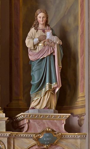 Saint Joseph Shrine, in Saint Louis, Missouri, USA - statue of Saint Agnes