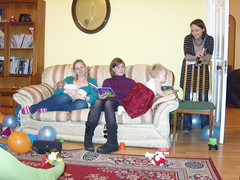 Baby Emma, Sarah, Lori, Fiona and Carol (superlori) Tags: birthday party fiona