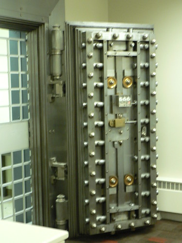 The Key Bank Vault door