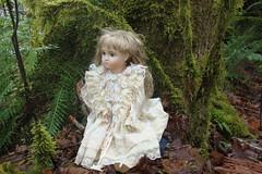 DSC01195dollever (portugita_norton) Tags: trees fern washington doll olympia evergreencollege livingdoll