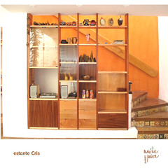 estante Cris (marilia paiva) Tags: brazil brasil design furniture designer bookshelf marcenaria furnituredesign estante mveis woodfurniture customfurniture sobmedida furnituredesigner designdemveis designerdemveis mariliapaiva