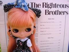 52 Weeks of Blythe :~: Week 11- BLUE (svohljott) Tags: blue keychain doll dolphin album vinyl rosebud lp record eden blythe sbl mrb halberd therighteousbrothers mademoisellerosebud blueeyedsoul wardrobebynicole hairbynicole 52weeksofblythe11 thehistoryoftherighteousbrothers