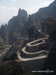 The long and winding road at Mt Tianmenshan