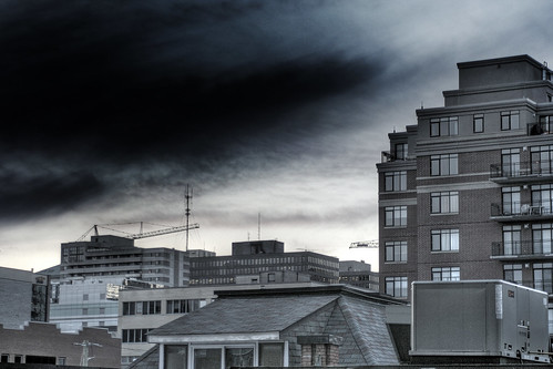 ominous balcony view hdr