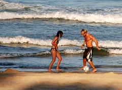 play on beach