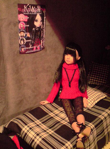 CharlIE :)) dans un beau pull rouge tricoté par Nadine :) Page 2 et 3 :) 2374387853_ff79dcd504_o