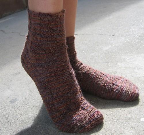 socks anne knitting 2008 schaefer sockmadness2 reversai