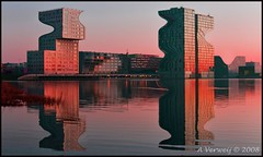Strange buildings (Alex Verweij) Tags: city test alex water colors strange skyline sunrise buildings wave sidebyside effect almere cubism cs3 stadshart sici supershot digifoto almerestad 40d supershots anawesomeshot impressedbeauty aplusphoto diamondclassphotographer flickrdiamond bratanesque coolestphotographers goldstaraward