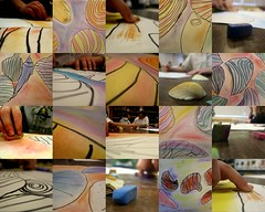 mad skillz. (artsy_T) Tags: art students kids contrast seashells chalk movement classroom unity compositions artists pastels balance sharpie macros kidart emphasis artroom blending 4thgrade colortheory warmcolors coolcolors drypastels colorfamilies