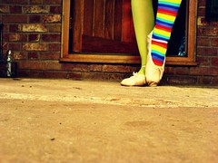 Le petite ballerine..... (Her life in pictures) Tags: colour rainbow ballerina sock picnik