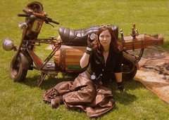Milly and Steampunk Motorcycle