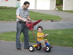 daddy pushing ari (Casa Highland) Tags: ari yuval