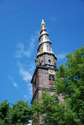 Vor Frelser Kirke (Church of Our Saviour) - tower detail