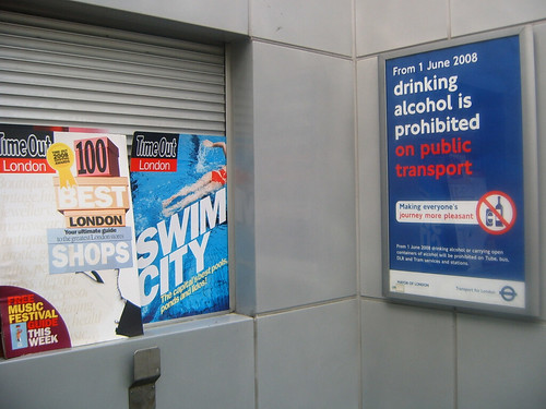 TimeOut London and Tube Ban Poster at Hammersmith Tube Stationbyt Annie Mole