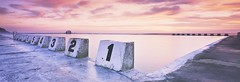 Starting Blocks (rubberducky_me) Tags: newcastle baths oceanbaths swimming pool beach linhof technorama film panorama sunrise flextight imacon