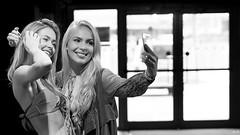 Selfie (Pavel Jurásek) Tags: selfie black white bw blackdiamond photography photographie monochrom femme human giirls public pb moments blackwhite street moment streets steetphoto impublic urban city sreetlite people photo picture pics image flickr monotone mono blackandwhite monochrome bestportraitsaoi