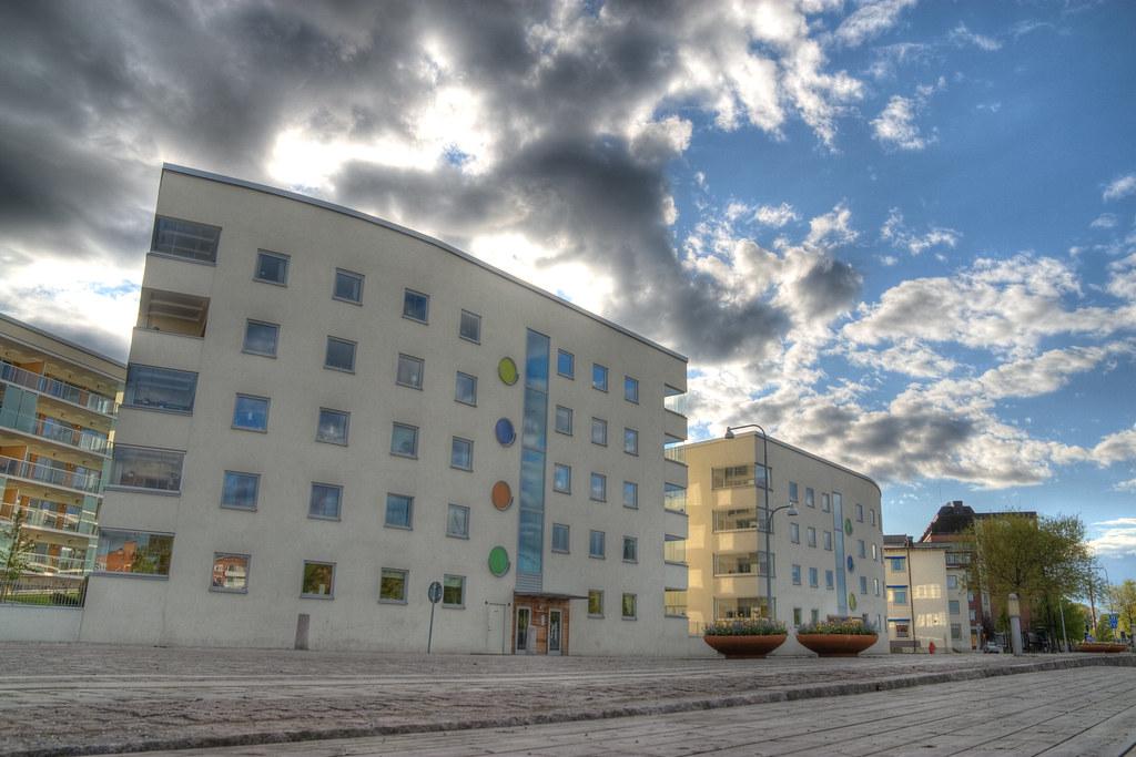 Nybyggda hus på Hamngatan i Eskilstuna