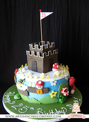 super_mario_bros_cake (ArtisanCakeCompany) Tags: birthday wedding white plant man flower castle mushroom cake clouds oregon portland shower cupcakes power brothers coins eating flag weddingcake bricks peach super mario hills special bakery salem bros occasion grooms artisan filling keizer bakeries fondant tomahawk artisancakecompany