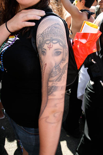 Ganesh Tattoo at Gay Pride