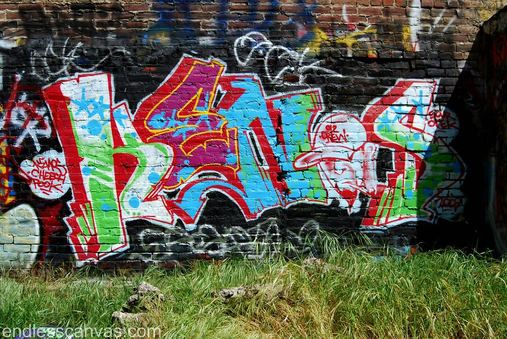 Kenos Graffiti Piece Santa Ana Orange County California.