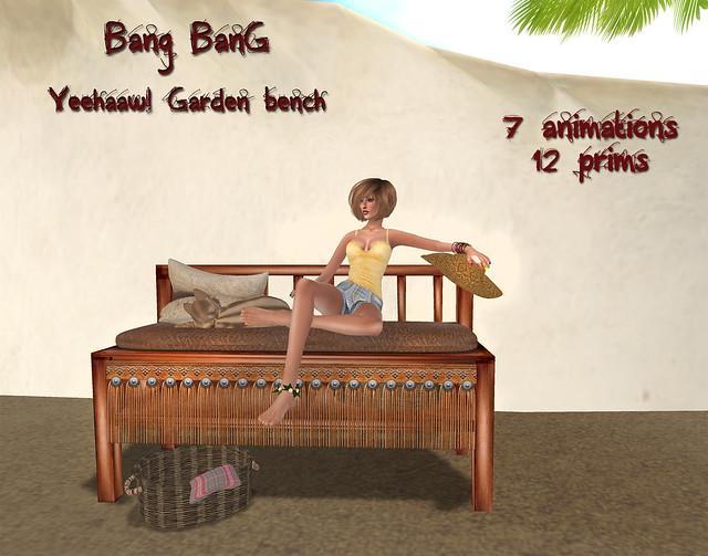 Bang Bang - Yeehaaw! Garden bench