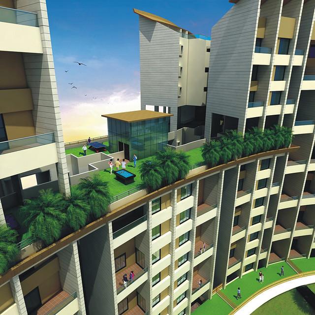 Sky Lounge at Nandan Euphora, Garden Flats, 2 BHK & 3 BHK Flats at Vishrantwadi Pune 411015
