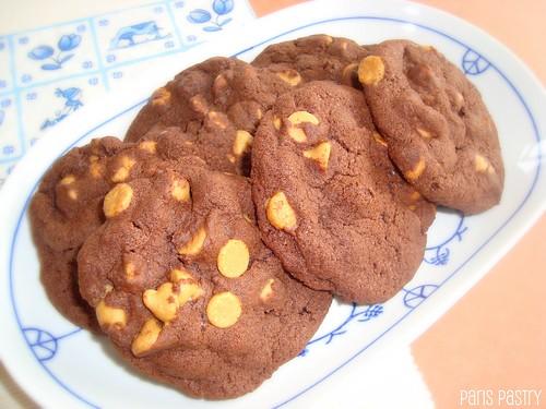 巧克力 - 花生酱芯片滴饼干