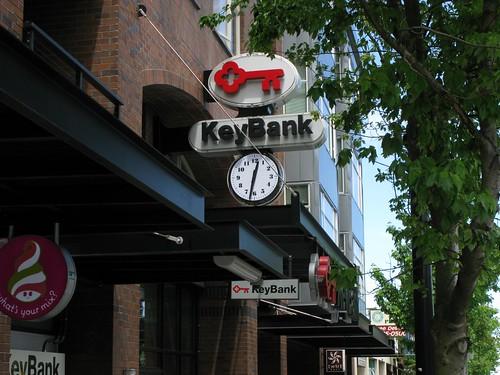 KeyBank Sign Clock