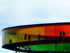 Rainbow people (Jaedde & Sis) Tags: roof art look silhouette rainbow colours aros wrestler olafureliasson twothumbsup bigmomma regnbuen thumbwrestler thechallengegame challengegamewinner acfy fotobronze fotocompetitionbronze herowinner thepinnaclehof storybookwinner pregamewinner pregamesweepwinner tphofweek240
