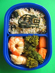 Shinkansen bento lunch for preschooler