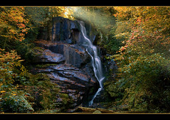 Autumn Magic (NatureWalk) Tags: autumn forest photoshop waterfall nc october enhanced themoulinrouge naturesfinest rosman eastatoefalls aplusphoto diamondclassphotographer flickrdiamond eastatoeriver