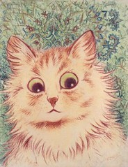 A 'wallpaper' style Louis Wain cat