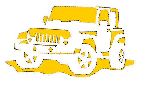 Jeep Pumpkin Stencil http://jeepin.net/blog/