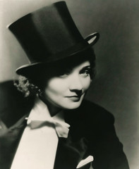 marlene dietrich top hat, for morocco