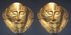 Mask of  Agamemnon (3D  Cross-View) (3dstereo) Tags: eye stereoscopic stereophotography 3d crosseye crosseyed view cross mask troy athens greece eyed chacha agamemnon mycenae crossview welldown
