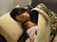 母子 sleeping