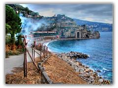Vico Equense (Italy) (RayDS) Tags: sea italy beach landscape coast photo italia mare smoke sony meta sorrento spiaggia dsc hdr vicoequense castellammare h5 eow stabia rayds