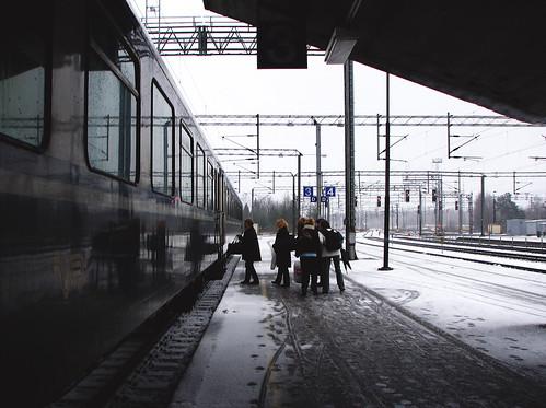 IMG44007. Matkustajia Kouvolassa