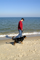 Rich and Mollie on the beach