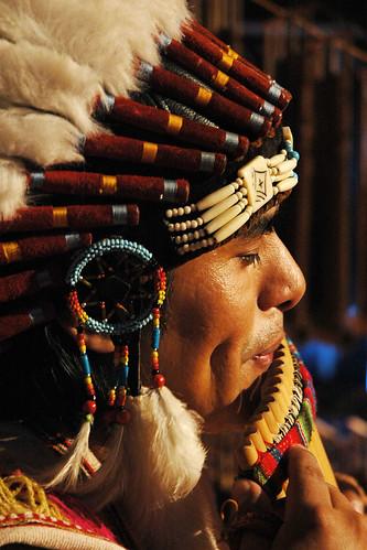 Peruvian pan flute artist