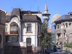 Constanta city, Romania (phototouring) Tags: street city houses streets tower architecture buildings religious town europe mare cityscape minaret towers cities cityscapes mosque romania towns sights mosques minarets attraction attractions islamic constanta mahmoud mahmudiye moscheea