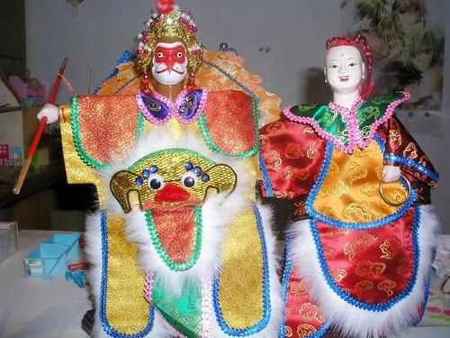 布袋戲偶—孫悟空和紅孩兒