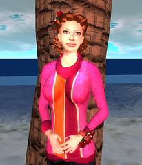 Pamran Hunt_LaynieWear Cowl Sweater Pink