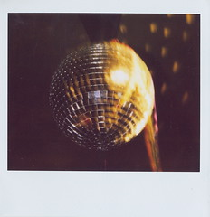 HAPPY NEW YEAR! (Claire Marie Vogel) Tags: california party color film ball polaroid disco dance claire explore spectra discoball groovy retard vogel