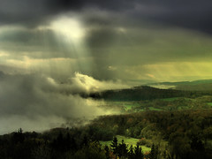 Heaven breaks through (Bn) Tags: mist topf25 fog germany bavaria amazing topf50 bravo shots topf300 unesco valley bec topf100 500faves topf200 breathtaking biodiesel rhn topf400 topf500 blueribbonwinner 100faves 50faves 200faves flickrsbest 35faves 25faves fivestarsgallery abigfave 300faves platinumphoto anawesomeshot 400faves amazingshots superbmasterpiece diamondclassphotographer megashot ishflickr theroadtoheaven rotherkuppe 100earthcomments