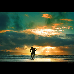 Skimboarder's Moment (Soul101) Tags: sunset fab beach clouds interesting nikon waves action philippines bicol bagasbas skimboarder d40 mywinners abigfave superaplus aplusphoto bratanesque soul101